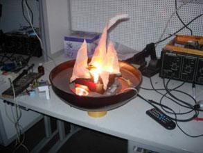 Как сделать имитацию огня в камине своими 309