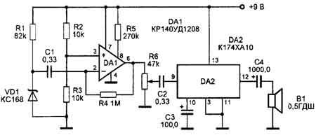 Усилитель приемной антенны  dl2kqde